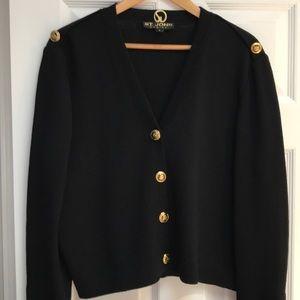 ST. JOHN button-up sweater